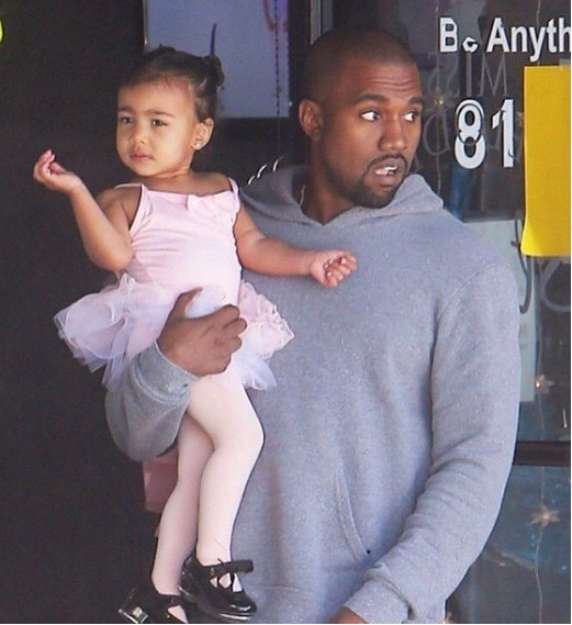 Kanye West with baby North West