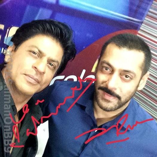 Shah Rukh Khan,Salman Khan,#BhaiBhai,#BhaiBhai selfie,Shah Rukh Khan,Salman Khan,Bigg Boss Nau,Bigg Boss,Bigg Boss 9