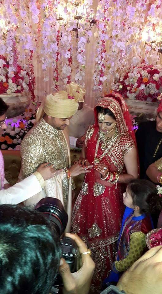 Suresh Raina and Priyanka Chaudhary Marriage Photos