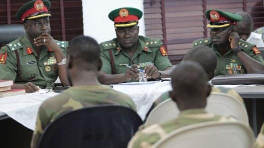 The soldiers were charged by the military tribunal for mutiny and sentenced to be executed by the firing squad in Abuja