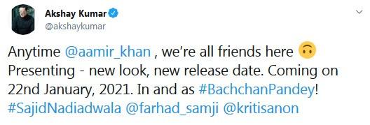 Akshay Kumar tweet
