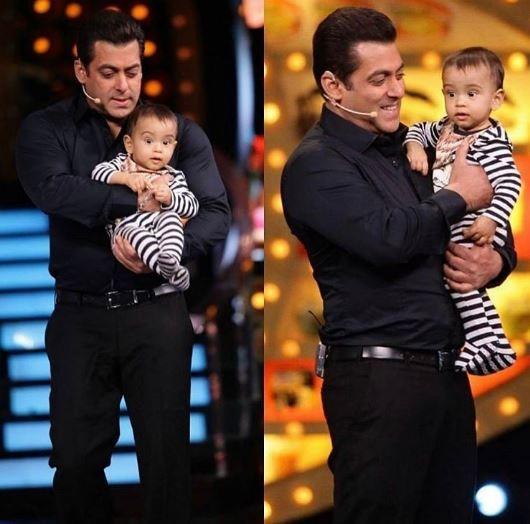 Bigg Boss 10,Bigg Boss,Salman Khan,Salman Khan with nephew Ahil,nephew Ahil,Weekend Ka Vaar,Arpita Khan,Aayush,Bigg Boss 10 Weekend Ka Vaar