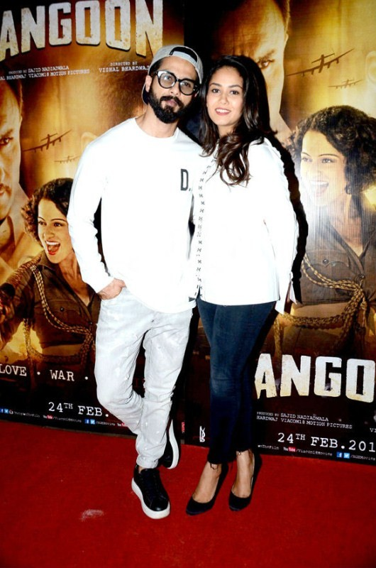 Kangna Ranaut,Shahid Kapoor,Mira Rajput,Rangoon,Rangoon special screening,Rangoon special screening pics,Rangoon special screening images,Rangoon special screening photos,Rangoon special screening stills,Rangoon special screening pictures