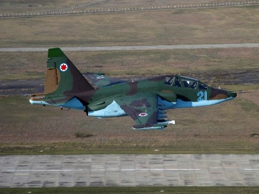 The Russian GPS system called GLONASS, was installed inside the SU-25 fighter jets which then flew over northern Kyrgyzstan.