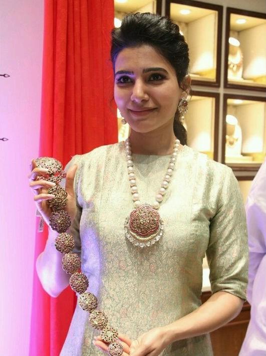 Samantha Ruth Prabhu,Samantha,actress Samantha,NAC Antique Jewellers Exhibition,NAC Antique Jewellers