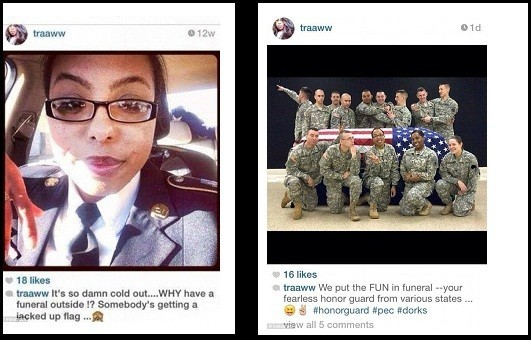 Pictures posted by Terry Harrison that kicked up funeral controversy/Instagram screenshot