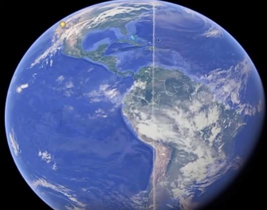 Mysterious Line across earth
