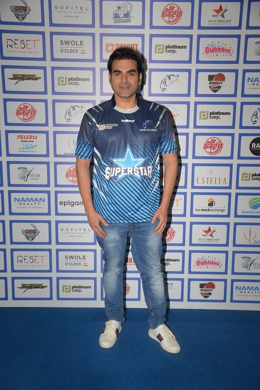 Arjun Rampal,Arjun Rampal girlfriend,Dino Morea,Arbaaz Khan,Arbaaz Khan Georgia Andriani,georgia andriani,Superstar Cricket League,Cricket league