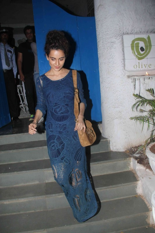 Bollywood Actress Kangana Ranaut Spotted at Olive Bar at Bandra