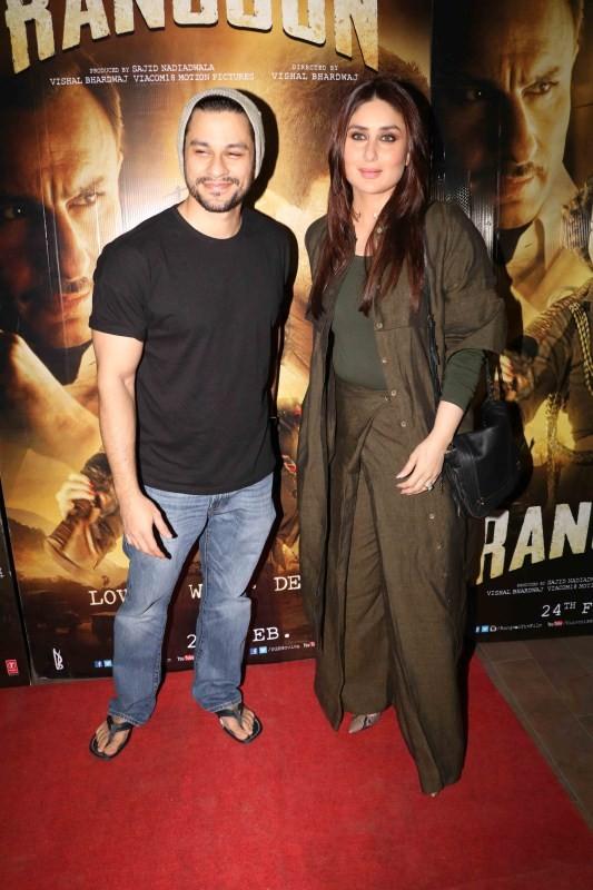 Saif Ali Khan,Shahid Kapoor,Kangana Ranaut's Rangoon was a star-studded affair. Bollywood stars like Kareena Kapoor Khan,Mohammed Morani,Lucky Morani,Sajid Nadiadwala,Vishal Bhardwaj,Wardha Khan,Lucky Morani