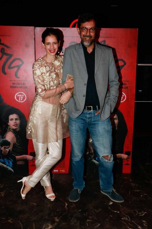 Kalki Koechlin and Rajat Kapoor,Kalki Koechlin,Rajat Kapoor,Mantra,Mantra promotion,Mantra movie promotion,Anarchy Club