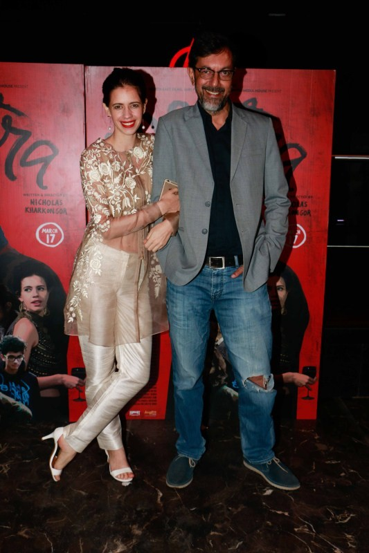Kalki Koechlin and Rajat Kapoor,Kalki Koechlin,Rajat Kapoor,Mantra,Mantra promotion,Mantra movie promotion,Anarchy Club