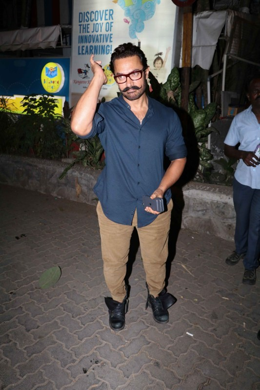 Aamir Khan,actor Aamir Khan,Aamir Khan pics,Aamir Khan images,Aamir Khan stills,Aamir Khan pictures,Aamir Khan photos,Aamir Khan spotted at Aura,Aamir Khan at Aura