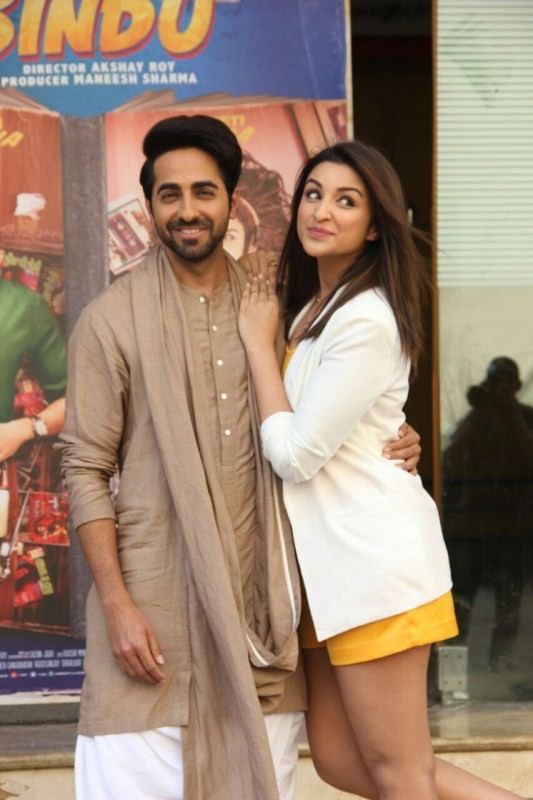 Parineeti Chopra and Ayushman Khurana,Parineeti Chopra,Ayushman Khurana,Meri Pyaari Bindu,Meri Pyaari Bindu first look,Meri Pyaari Bindu first look poster,Meri Pyaari Bindu first look launch,Meri Pyaari Bindu first look launch pics,Meri Pyaari Bindu first