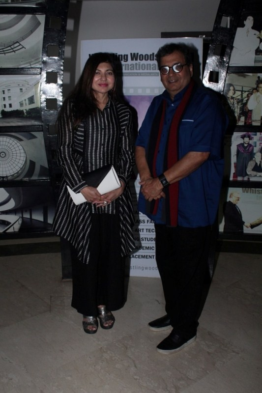 Filmmaker Subhash Ghai,Singer Alka Yagnik,Alka Yagnik,Whistling Woods International Institute,Whistling Woods