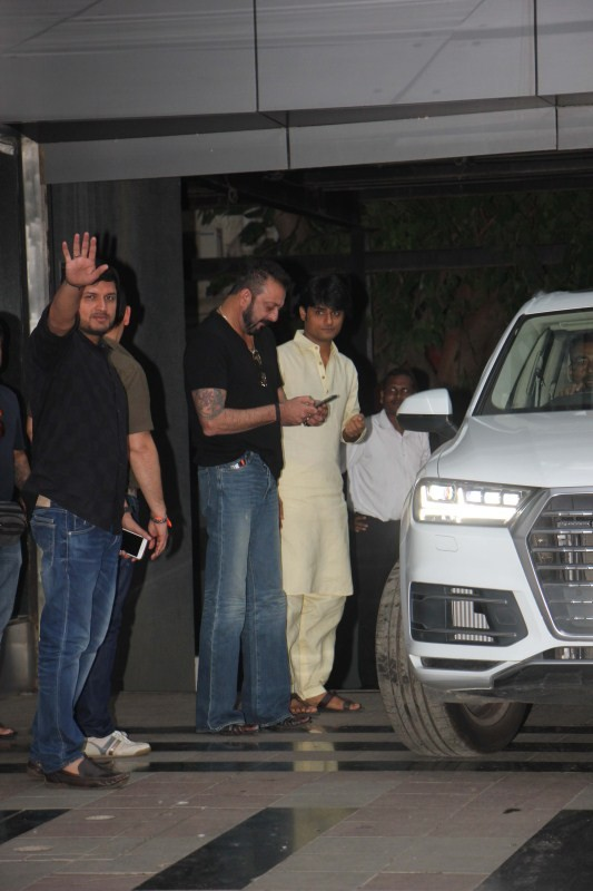 Sanjay Dutt,actor Sanjay Dutt,Sanjay Dutt spotted at Legend Studio office,Sanjay Dutt at Legend Studio office,Legend Studio office