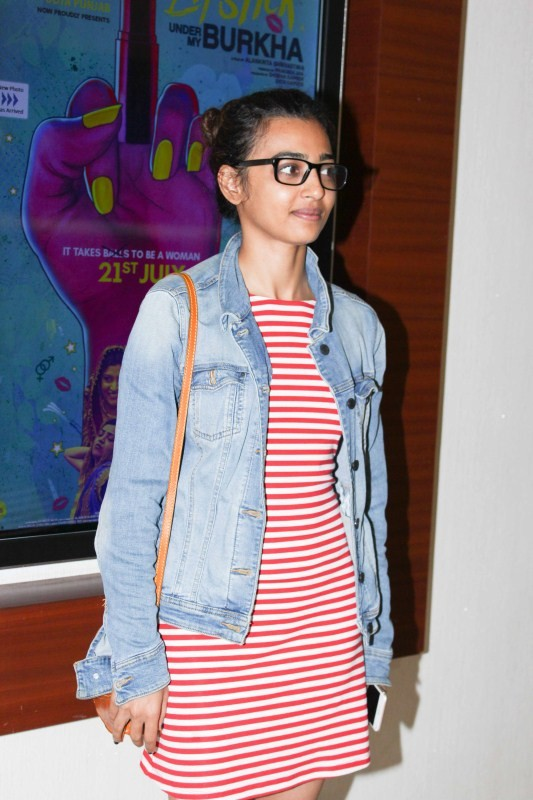 Shraddha Kapoor and Radhika Apte,Shraddha Kapoor,Radhika Apte,Lipstick Under My Burkha screening,Lipstick Under My Burkha special screening,Shraddha Kapoor at Lipstick Under My Burkha special screening,Radhika Apte at Lipstick Under My Burkha special scre