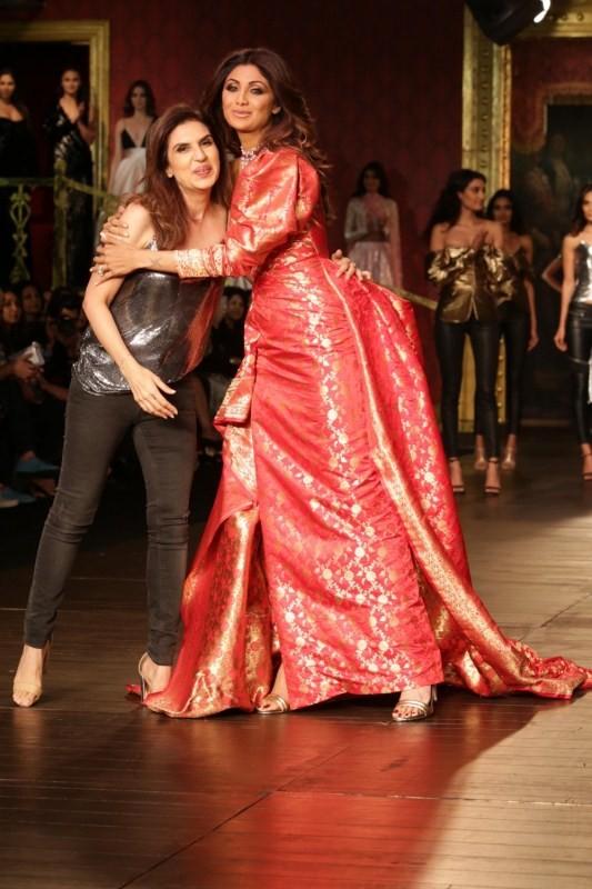 Shilpa Shetty,actress Shilpa Shetty,Monisha Jaising,India Couture Week 2017,India Couture Week