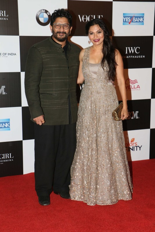 Arshad Warsi with wife Maria Goretti,Arshad Warsi,Maria Goretti,Vogue Women of the Year 2017,Celebs at Vogue Women of the Year 2017