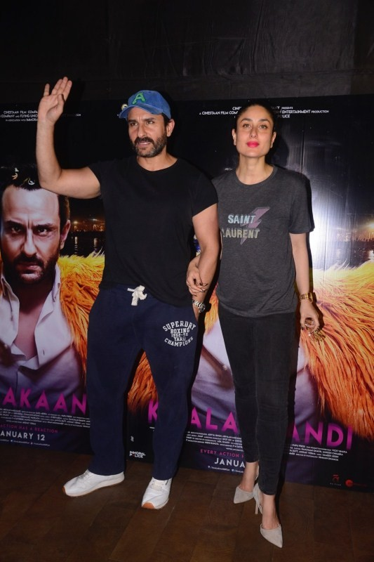 Saif Ali Khan,Kareena Kapoor,Saif Ali Khan and Kareena Kapoor,Kareena Kapoor Khan,Kaalakaandi,Kaalakaandi special screening,Kaalakaandi special screening pics,Kaalakaandi special screening images,Kaalakaandi special screening stills,Kaalakaandi special sc