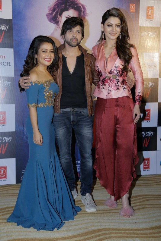 Himesh Reshammiya,Urvashi Rautela,Neha Kakkar,Hate Story 4,Hate Story 4 song launch,Hate Story 4 song,Hate Story 4 song launch pics,Hate Story 4 song launch images,Hate Story 4 song launch stills,Hate Story 4 song launch pictures,Hate Story 4 song launch