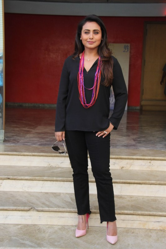 Rani Mukerji,actress Rani Mukerji,Rani Mukerji promotes Hichki,Rani Mukerji promotes Hichki movie,Hichki movie,Hichki promotion,Hichki movie promotion