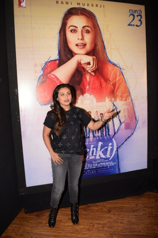 Rani Mukerji,actress Rani Mukerji,Hichki special screening,Hichki screening,Hichki screening for Brad Cohen,Brad Cohen,Hichki special screening pics,Hichki special screening images,hichki movie,Hichki pics,Hichki images