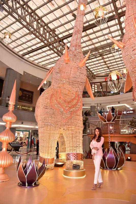 Gauri Khan,actress Gauri Khan,stunning Elephant at Phoenix Market City,SRK wife Gauri Khan,designer Gauri Khan