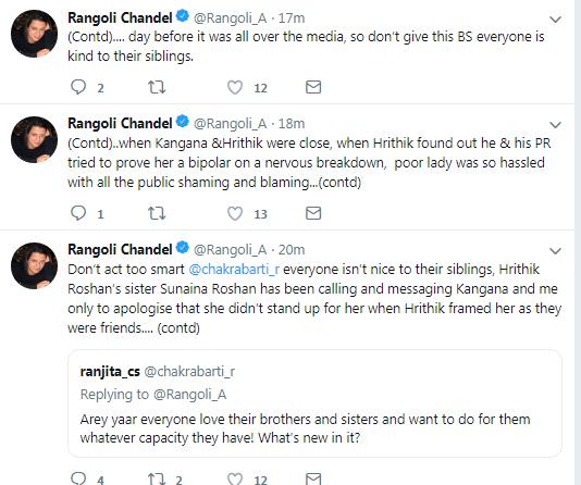 Rangoli tweet