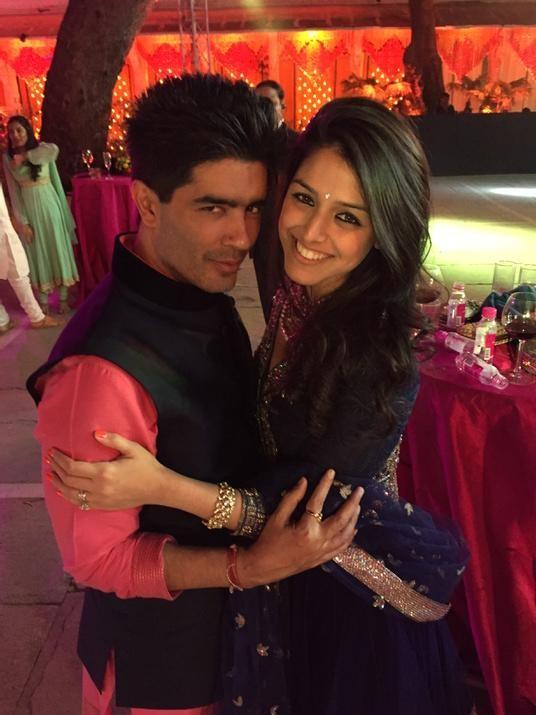 Manish Malhotra with Raakhee Tandon