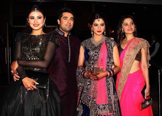 TV actresses Sanjeeda Sheikh and Mouni Roy (Varinder Chawla)