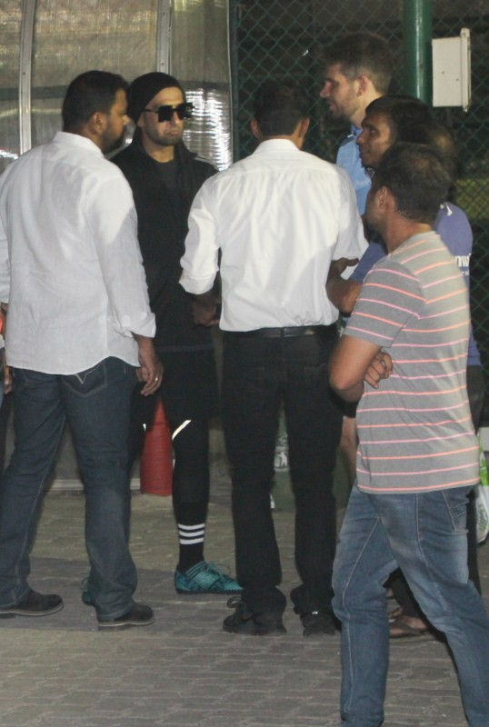 Ranveer Singh and Dino Morea,Ranveer Singh,Dino Morea,Dino Morea spotted at football ground,Ranveer Singh spotted at football ground
