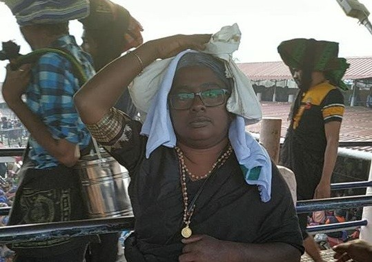 A 36-year old Dalit woman claimed that she entered the Sabarimala temple disguised as an elderly woman on january 8, 2019