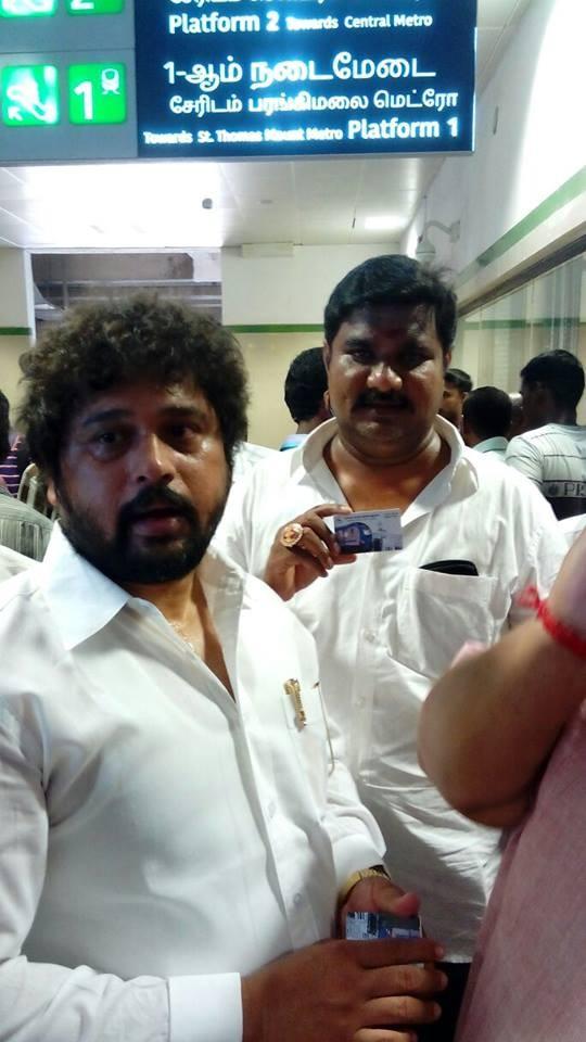 Chennai metro,chennai,chennai metro rail inauguration,Actor vaali