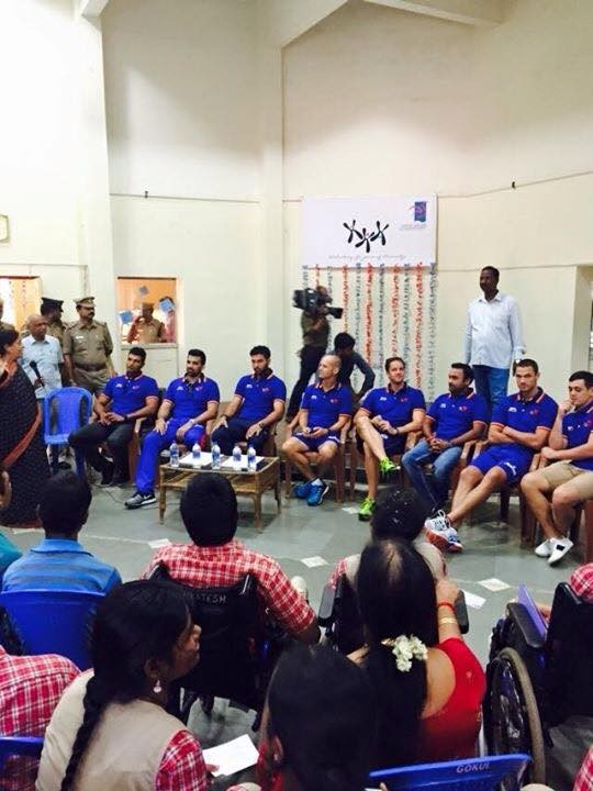 Ipl 2015,DD vs CSK,delhi daredevils,Chennai Super Kings,delhi daredevils vs chennai super kings,DD visits differently abled children