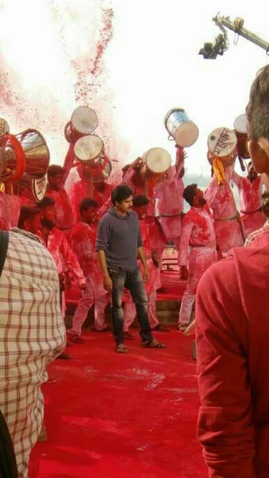 Power Star Pawan Kalyan,Agnathavasi,Agnathavasi song,Agnathavasi opening song,Agnathavasi songs,Pawan Kalyan shoots Agnathavasi song