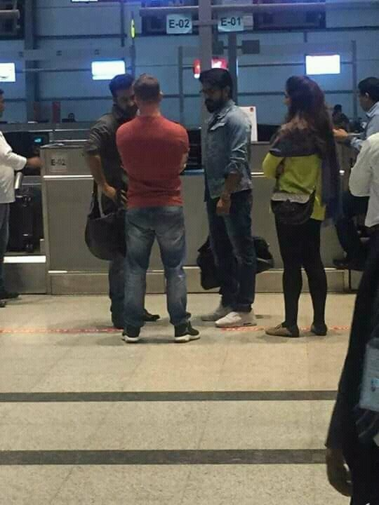 Ram Charan,NTR,Ram Charan and NTR,Ram Charan Teja,NTR,Jr NTR,Ram Charan and Jr NTR,Jr NTR at airport,Ram Charan at airport,SS Rajamouli