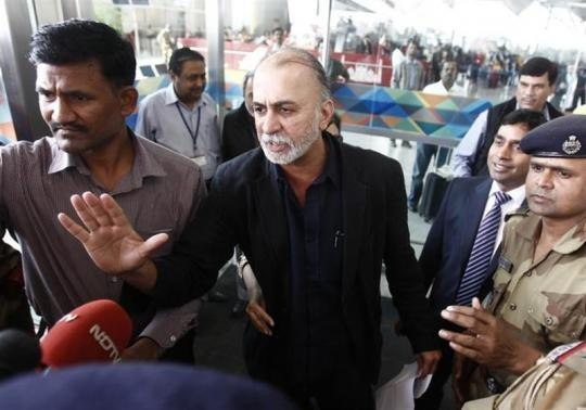 Tarun Tejpal, the 50-year-old founder and editor-in-chief of India's leading investigative magazine Tehelka, speaks with the media upon his arrival at the airport on his way to Goa, in New Delhi More...