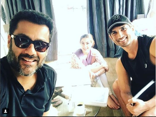 Sushant Singh Rajput and Sara Ali Khan,Sushant Singh Rajput,Sara Ali Khan,Kedarnath,Kedarnath on the sets,Abhishek Kapoor