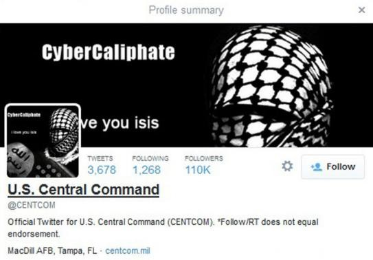 The Twitter and YouTube accounts of the US military Central Command were hacked on Monday by ISIS supporters.
