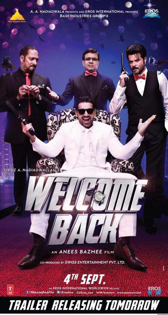 Welcome Back First Look,Welcome Back First Look Poster,Welcome Back,Welcome Back Poster,John Abraham,Shruti Haasan,Anil Kapoor,Nana Patekar,bollywood movie Welcome Back,Welcome Back movie stills,Welcome Back movie pics,Welcome Back movie images,Welcome Ba