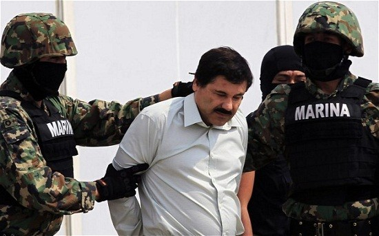 Joaquin 'El Chapo' Guzman following his arrest/Reuters