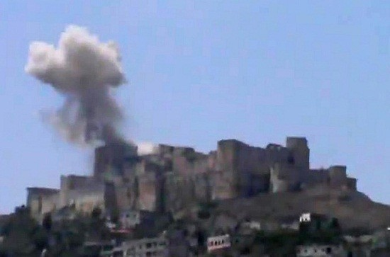 Krak des Chevaliers after the bombing - File Picture(Videograb)