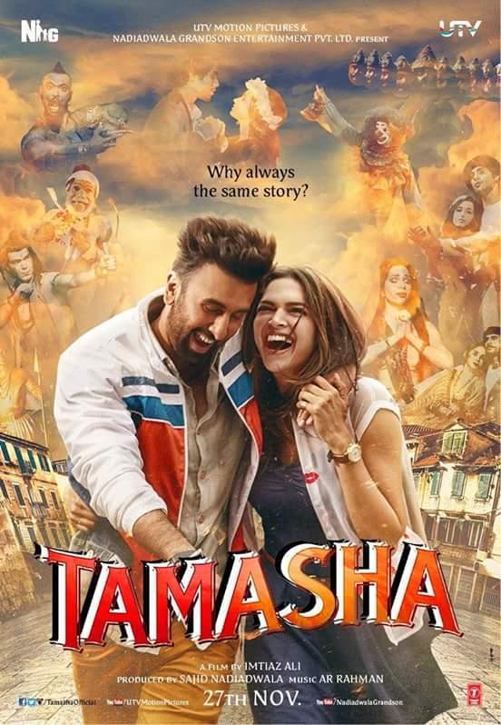 Tamashaa First Look,Tamashaa First Look Poster,Tamashaa Poster,Tamashaa,Ranbir Kapoor,Deepika Padukone,Ranbir Kapoor and Deepika Padukone,Tamashaa movie stills,Tamashaa movie pics,Tamashaa movie images,Tamashaa movie photos,Tamashaa movie pictures,Tamasha