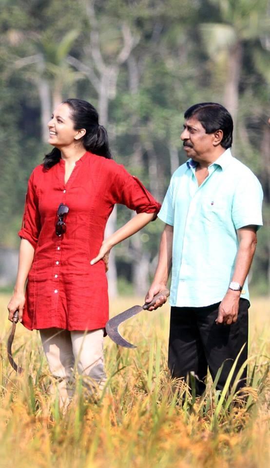 Manju Warrier and Sreenivasan