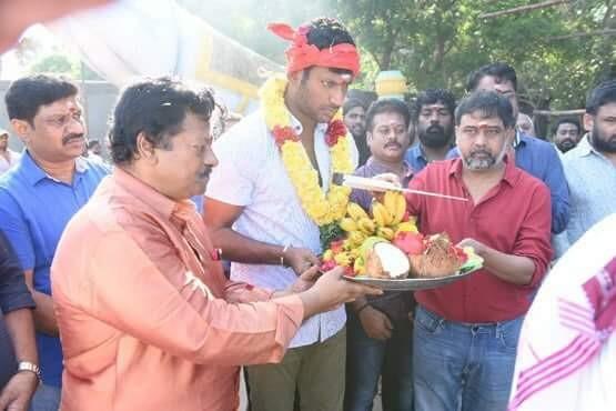 Sandakozhi 2 movie launch,Sandakozhi 2 launch,Sandakozhi 2,Sandakozhi 2 poojai,Vishal,Lingusamy,Keerthy Suresh,Varalakshmi