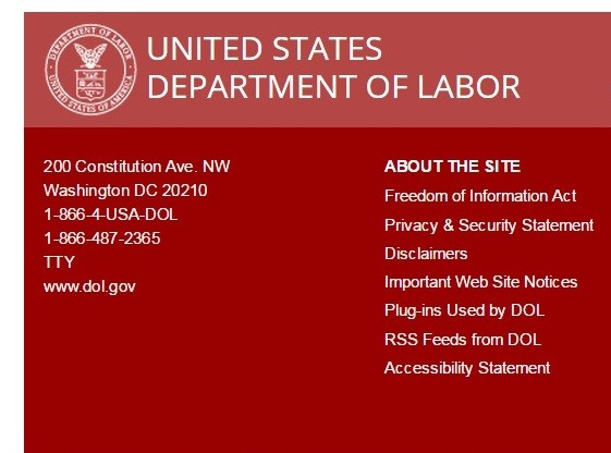 Department of Labor, US government