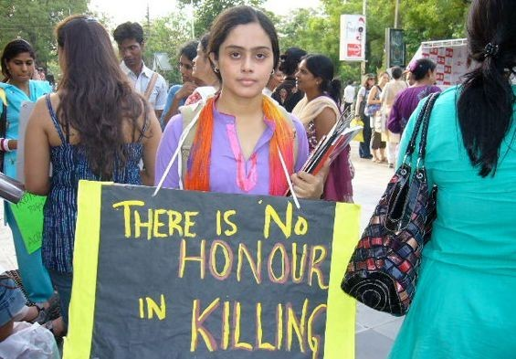 Protest against honor killings