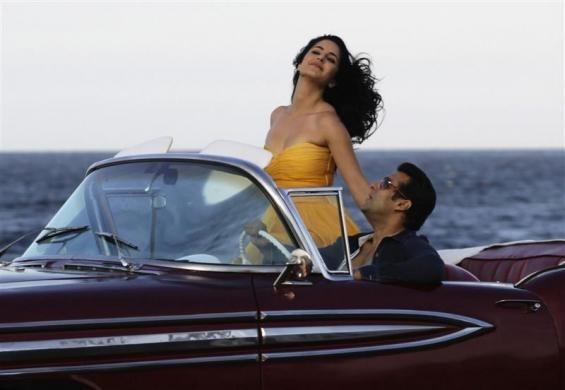 Bollywood star Salman Khan with Katrina Kaif  (Reuters)