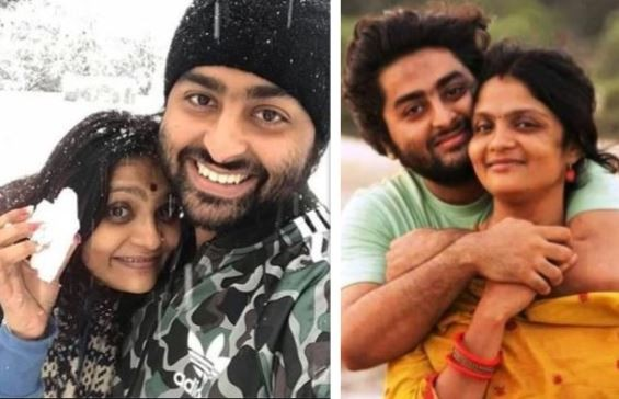 Arijit Singh with wife